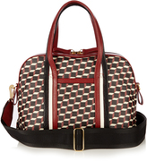 Pierre Hardy Rally cube-print coated-canvas tote