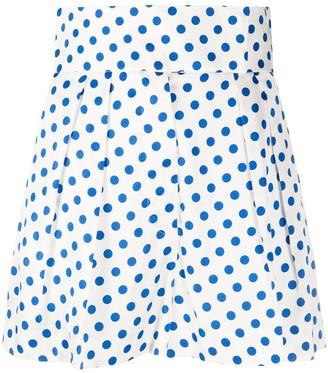 Sara Battaglia Polka Dot Shorts