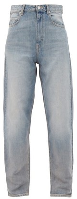 Etoile Isabel Marant Corsy High-rise Tapered-leg Jeans - Light Denim