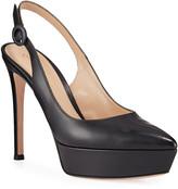 Gianvito Rossi Leather Slingback Platform Sandals
