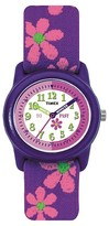 Timex Kid's Watch with Floral Strap - Purple/Pink T89022XY