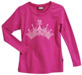 City Threads Girls Glittery Crown L/S Tee