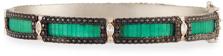 Armenta New World Teal Mosaic Bracelet with Diamonds