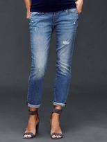Gap Full panel distressed best girlfriend jeans