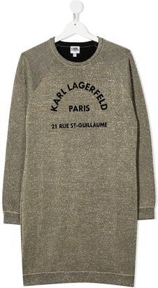 Karl Lagerfeld Paris TEEN logo-print sweatshirt dress
