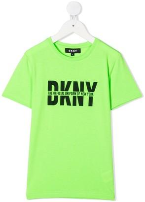 DKNY logo-print regular-fit T-shirt