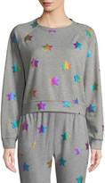 Terez Star Foil Printed Crewneck Sweatshirt