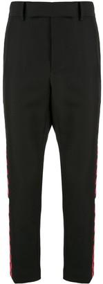 Haider Ackermann checkered stripe trousers