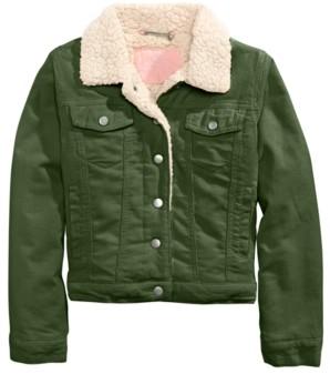 Joujou Big Girls Sherpa Fleece & Corduroy Jacket