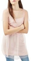 Topshop Women's Mesh Minidress