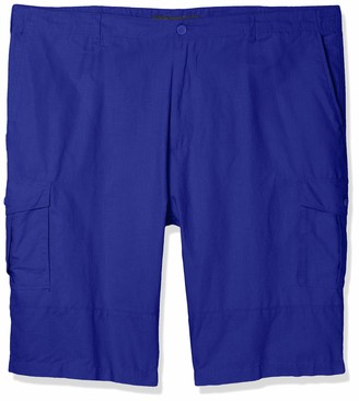 Sean John Men's Big & Tall Solid Linen Cargo Shorts