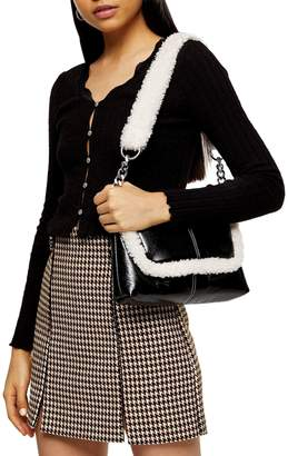 Topshop Long-Sleeve Lace Trim Cardigan