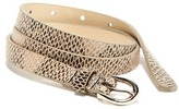 Old Navy Skinny Faux-Leather Snake-Print Belt for Women