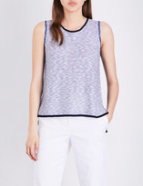 St. John Chambray knitted top