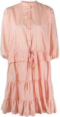 See by Chloe Tiered Bishop-Sleeved Short Dress