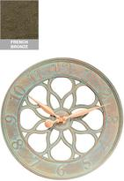 "Medallion Silhouette 18"" Outdoor Clock"
