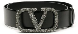 Valentino VLOGO crystal-embellished belt