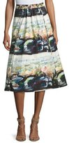 Burberry Kinsale Printed Full Midi Skirt