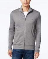Michael Kors Men's Zip-Front Reflective Trim Knit