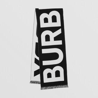 Burberry Logo Wool Jacquard Scarf