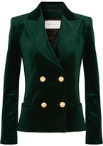 Pierre Balmain Double-breasted Cotton-blend Velvet Blazer