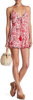 Honey Punch Floral Print Romper