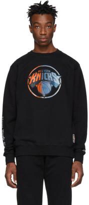 Marcelo Burlon County of Milan Black and Multicolor NBA Edition NY Knicks Mesh Sweatshirt