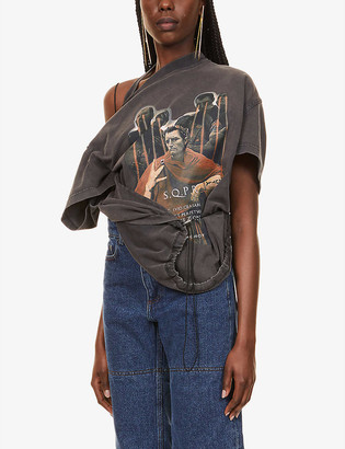 Y/Project Convertible Caesar graphic-print cotton-jersey T-shirt