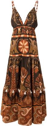Johanna Ortiz Neptunian flared maxi dress