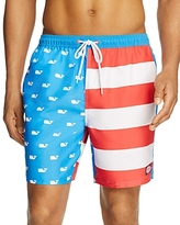 Vineyard Vines Whale Flag Bungalow Swim Trunks