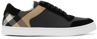 Burberry Black Check Reeth Sneakers