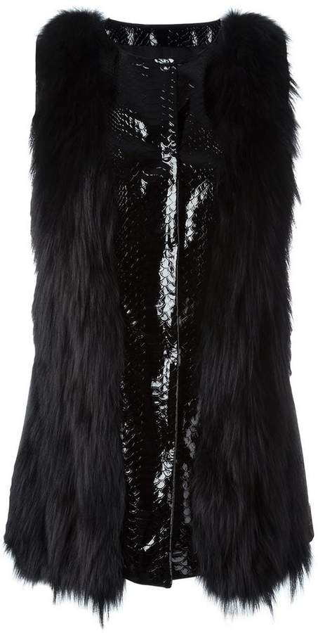 Giambattista Valli textured zip up gilet