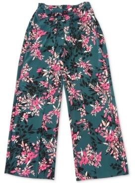 Bar III Floral-Print Tie-Waist Pants, Created For Macy's