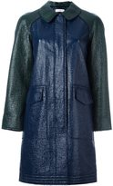 Tory Burch single breasted coat - women - Cotton/Polyurethane - 2