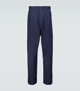 Balenciaga Wide-leg cotton twill chino pants