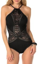 Becca Women's Prairie Rose Crochet One-Piece Swimsuit