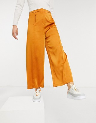 NATIVE YOUTH wide leg pants in rust