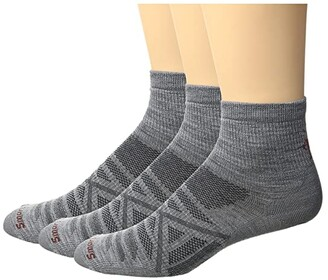 Smartwool PhD Outdoor Ultra Light Mini 3-Pack (Light Gray) Men's Crew Cut Socks Shoes