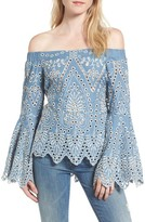 Elliatt Women's Off The Shoulder Chambray Top