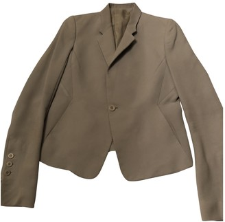 Rick Owens Blue Wool Jackets