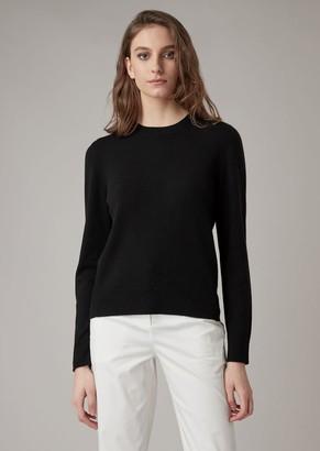 Giorgio Armani A Cashmere Sweater With Ribbed Profiles