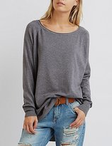Charlotte Russe Scoop Neck Pullover Sweater