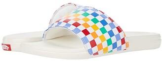 Vans Kids La Costa Slide-On (Toddler) ((Checkerboard) Rainbow/Marshmallow) Girl's Shoes