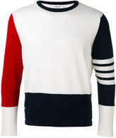 Thom Browne color block sweater - men - Cashmere - 1