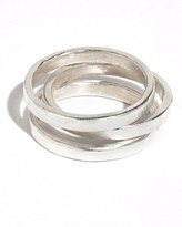 Jigsaw Made Hammered Stack Rings