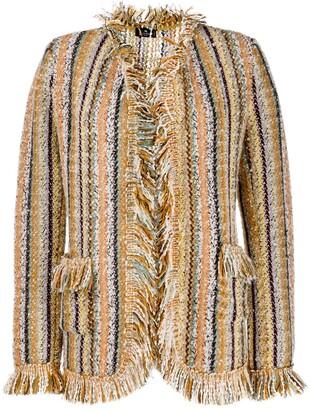 Etro Striped Woven Oversized Jacket