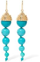 Aurelie Bidermann Lakotas gold-plated stone earrings