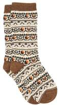 Ganni Yin & Yang Jacquard Wool-blend Socks - Womens - Brown Multi