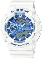 G-Shock Men's Analog-Digital White Resin Strap Watch 55x51mm GA110WB-7A