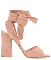 Gianvito Rossi ankle tie sandals - women - Leather/Suede - 36.5